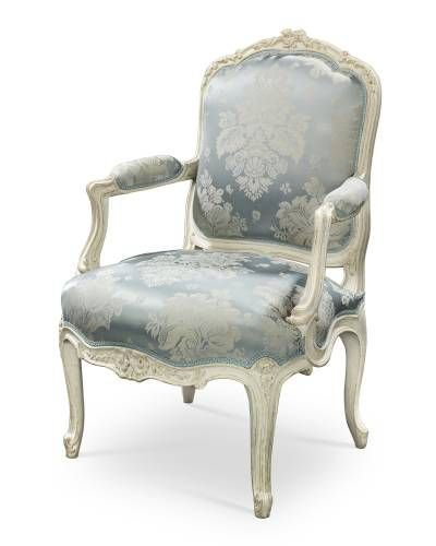 vintage French chair blue white png filler