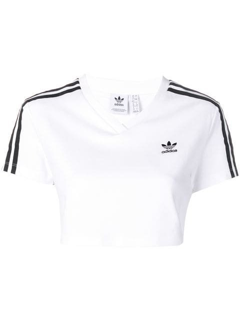 Adidas cropped T-shirt $30 - Buy Online - Mobile Friendly, Fast Delivery, Price
