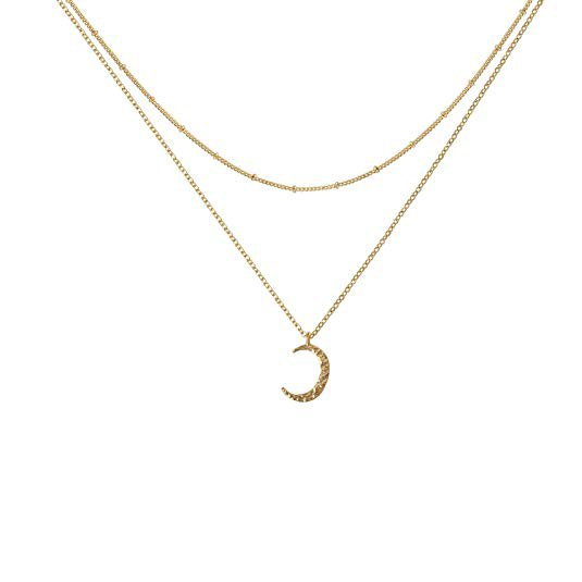 Amazon.com: Fettero Necklace for Women Dainty Handmade 14K Gold Fill Carved Full Round Moon Phase Pendant Wafer Chain Minimalist Jewelry: Gateway