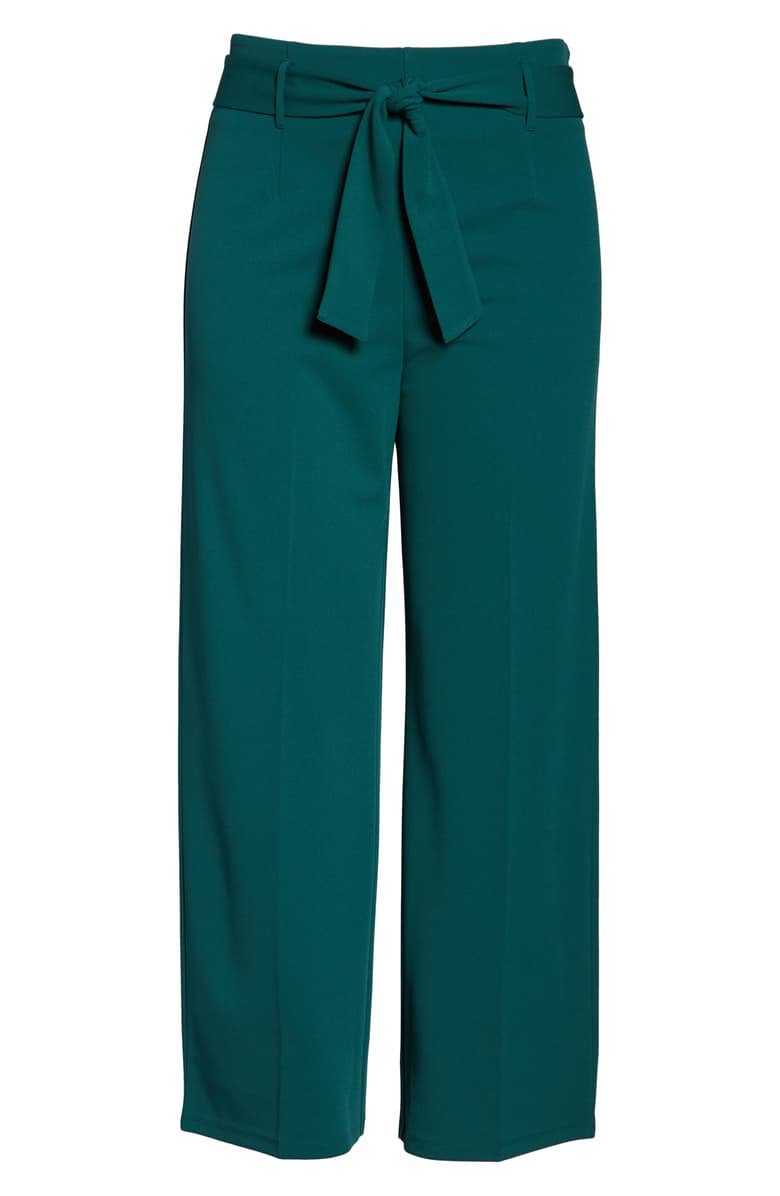 Leith High Waist Belted Pants (Plus Size) | Nordstrom