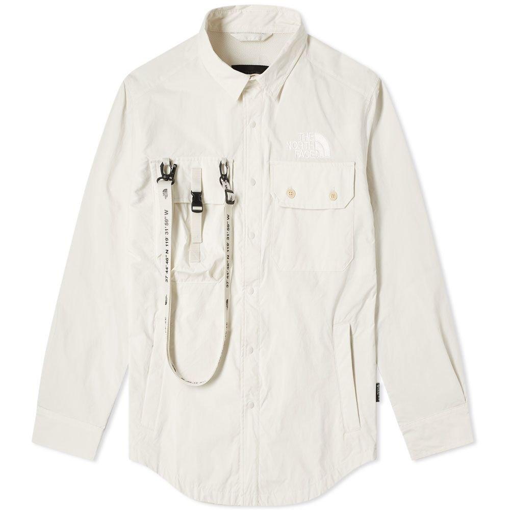 The North Face Black Series x Kazuki Coach Shirt Jacket Vintage White | END.