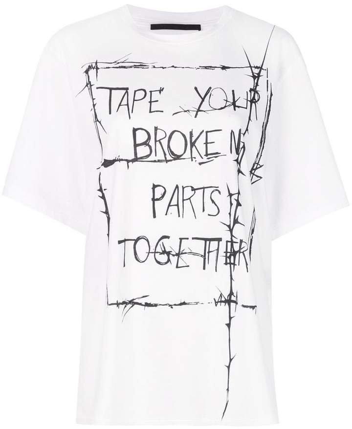 slogan print T-shirt