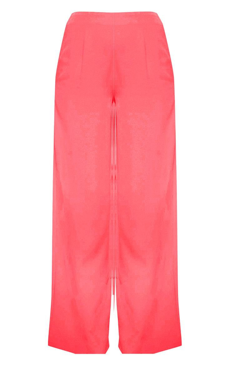 Coral Wide Leg Trouser   Trousers   PrettyLittleThing USA