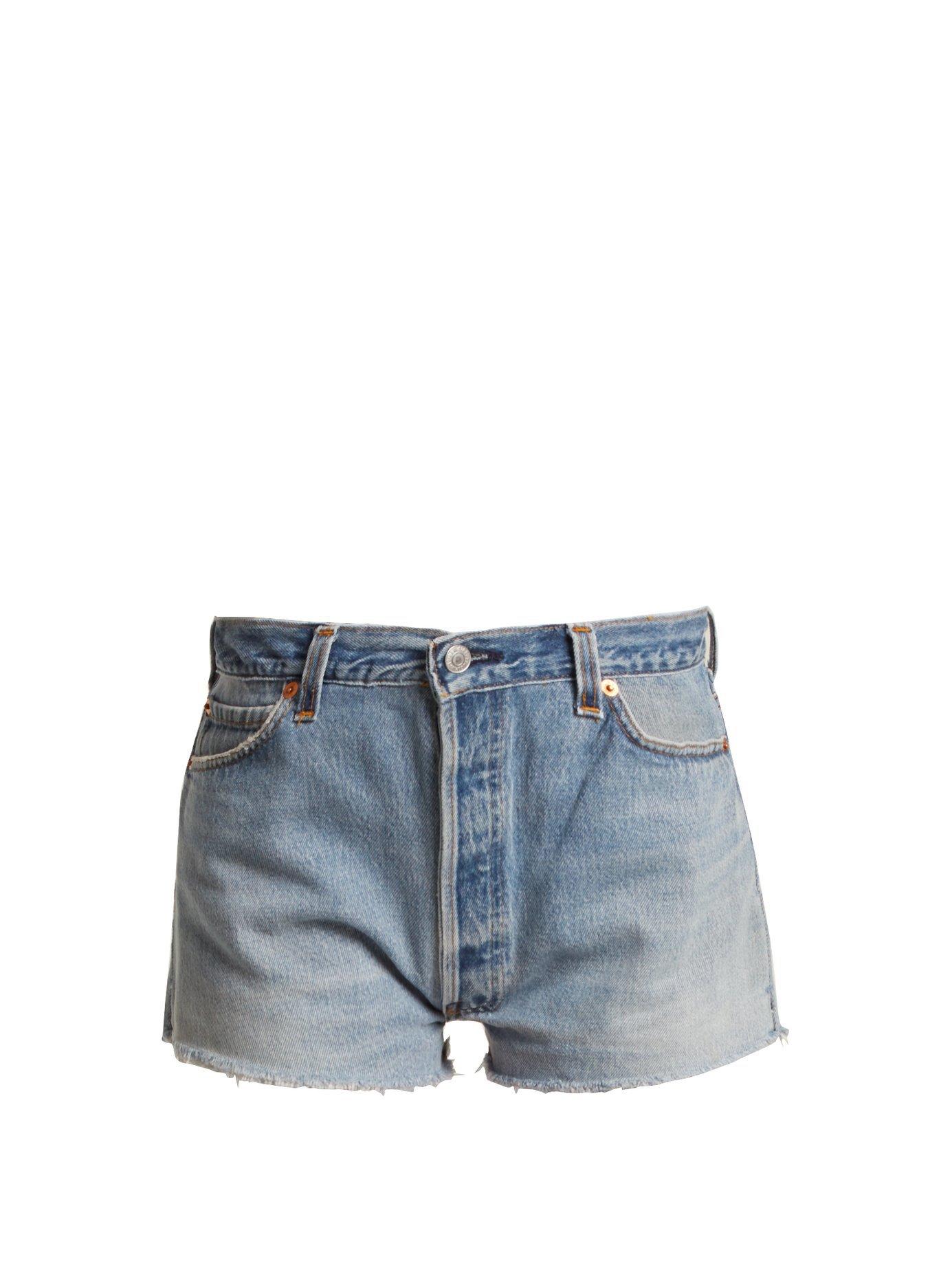 X Levi's The Short mid-rise denim shorts | Re/Done Originals | MATCHESFASHION.COM