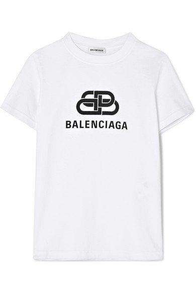 Balenciaga | Printed cotton-jersey T-shirt | NET-A-PORTER.COM
