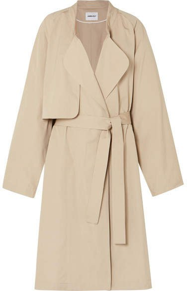Belted Cotton Coat - Beige