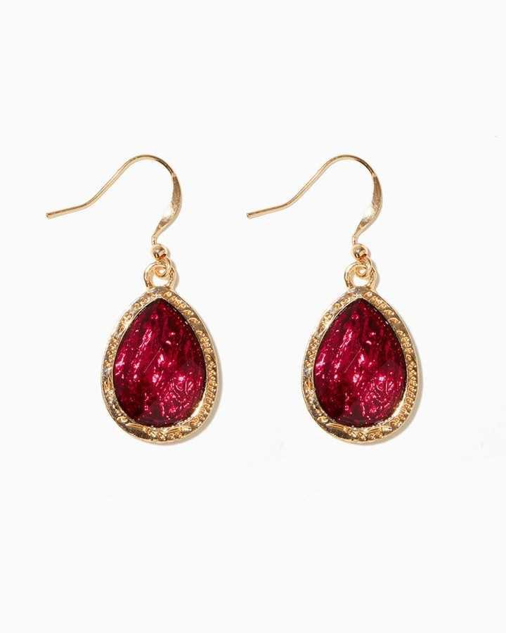 Charming charlie Madia Foil Teardrop Earrings - ShopStyle Women
