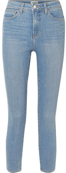Margot Cropped High-rise Stretch Skinny Jeans - Mid denim