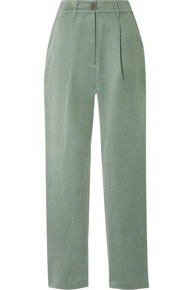 Mara Hoffman | Dita Tencel and linen-blend staight-leg pants | NET-A-PORTER.COM