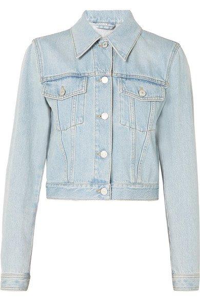 Gucci | Cropped appliquéd denim jacket | NET-A-PORTER.COM