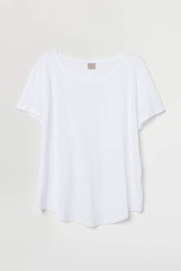 H&M+ Modal-blend T-shirt - White