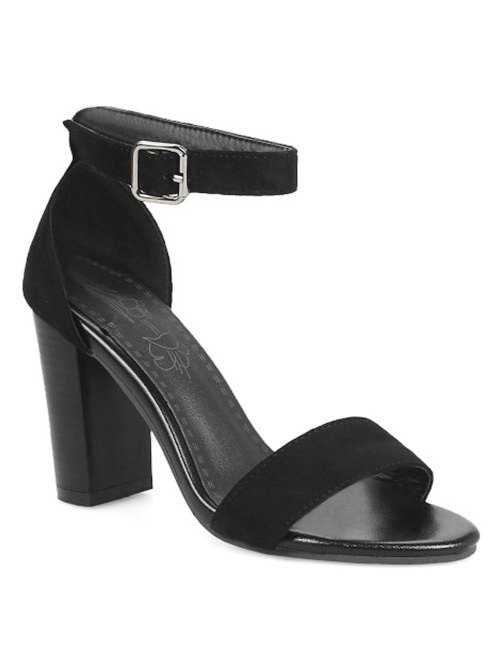 High Heel Party Ankle Strap Sandals in Black 40 | Sammydress.com