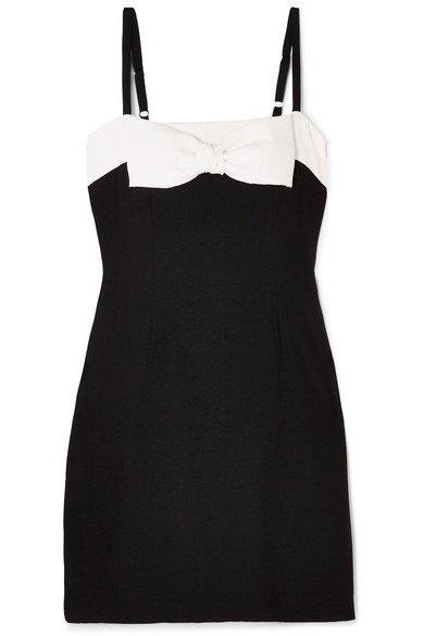 STAUD | Vertigo bow-embellished mini dress