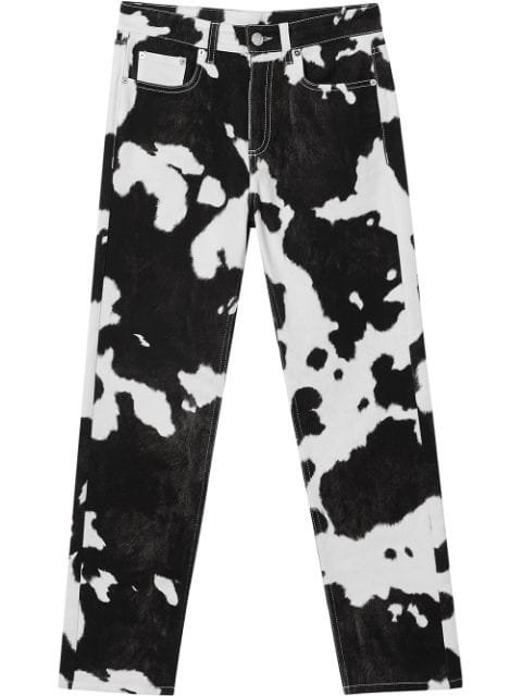 Burberry Straight Fit Cow Print Jeans $650 - Buy Online AW19 - Quick Shipping, Price