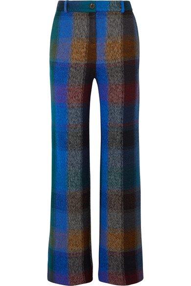Missoni | Checked wool-blend wide-leg pants | NET-A-PORTER.COM