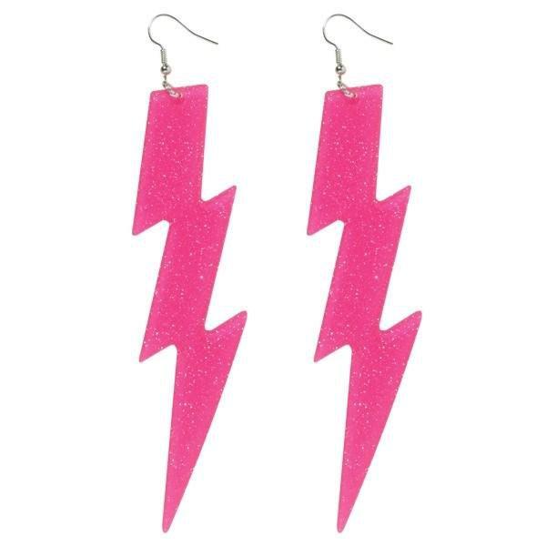 Earrings 80s Lightning Bolt
