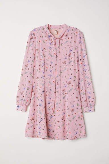 Chiffon Dress - Pink