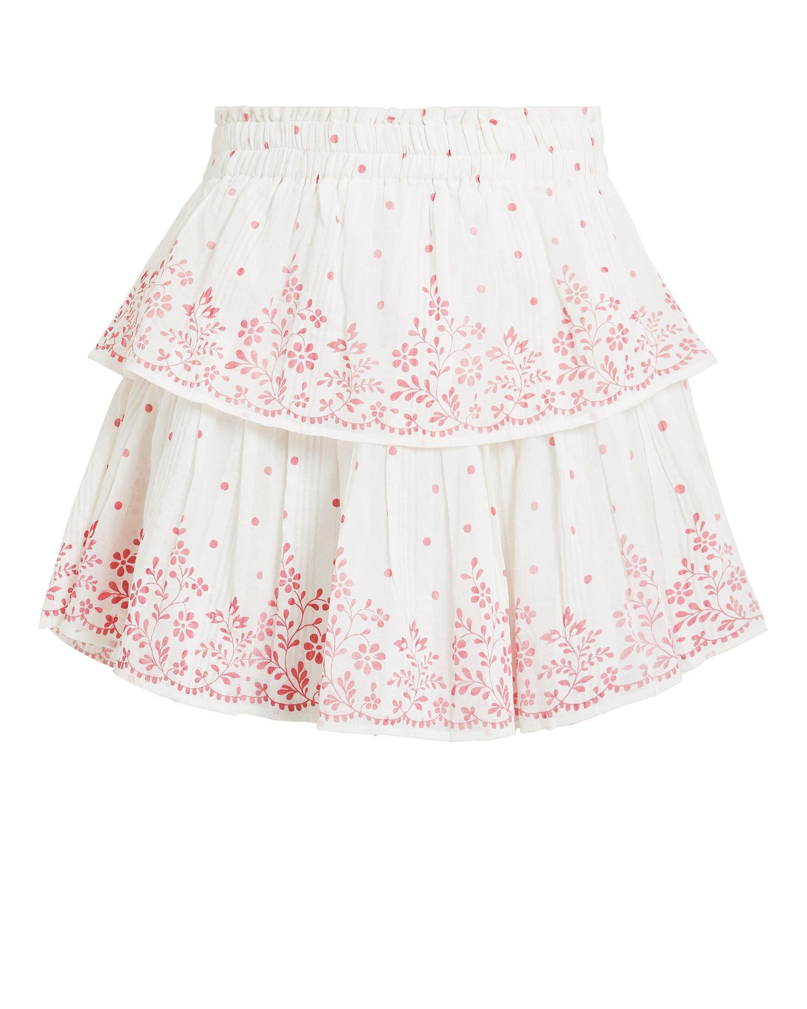 Ruffle Polka Dot Mini Skirt