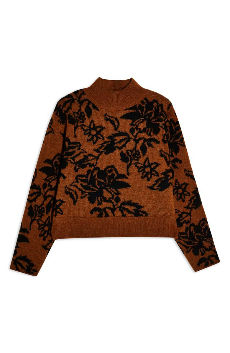 Topshop Floral Jacquard Sweater | Nordstrom