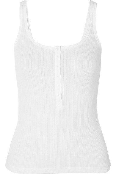 Vince | Ribbed stretch-cotton jersey tank | NET-A-PORTER.COM