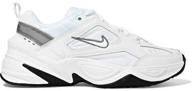 M2k Tekno Leather And Mesh Sneakers - White