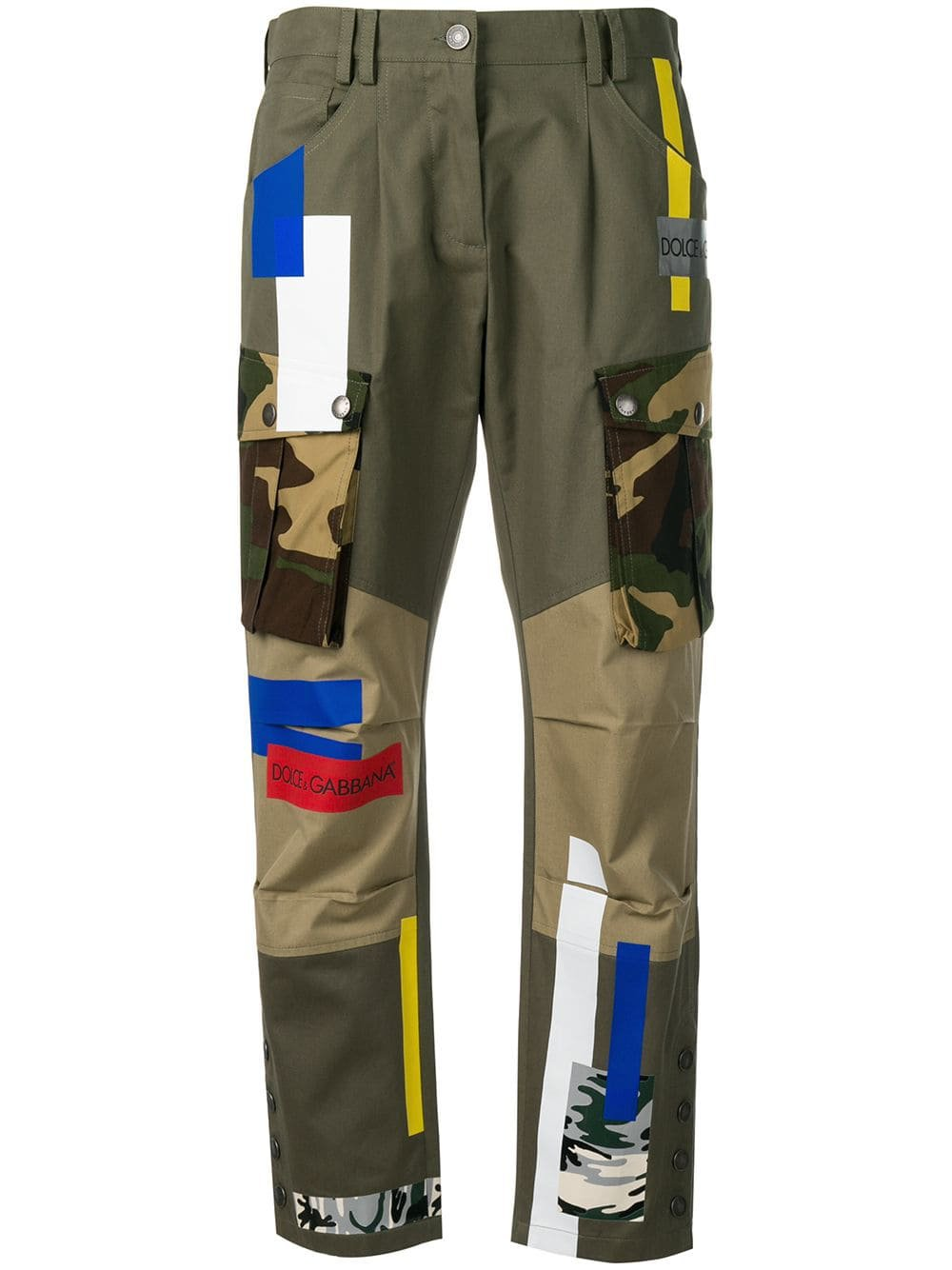 Dolce & Gabbana Patched Cargo Pants - Farfetch