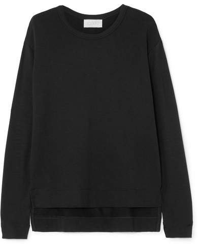calé - Camille Stretch-terry Sweatshirt - Black