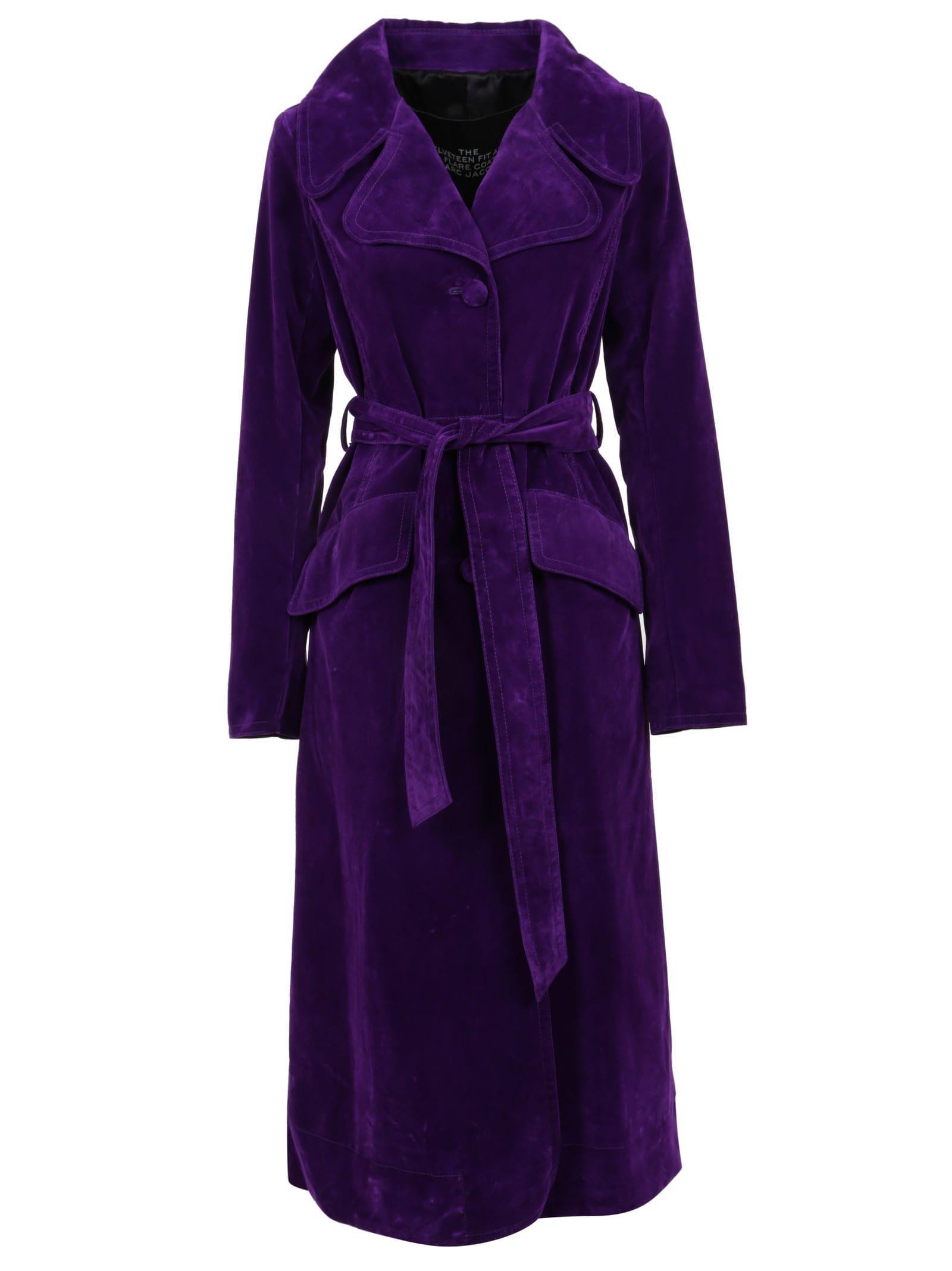 Marc Jacobs The Velveteen Fit & Flare Coat
