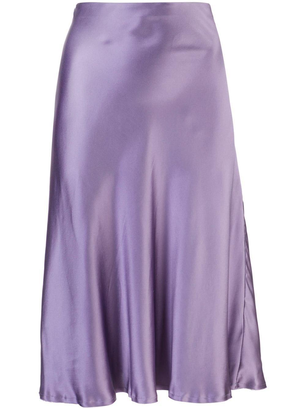 Nili Lotan Silk Midi Skirt
