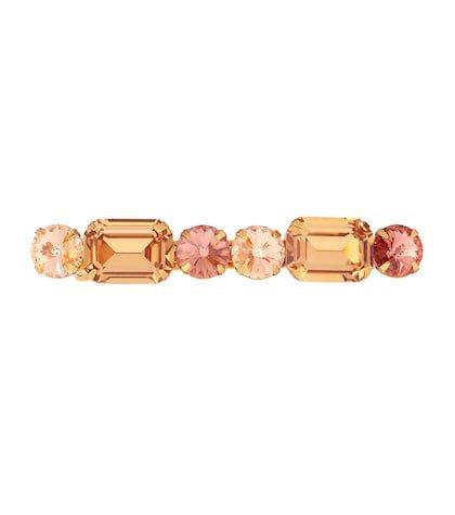 Esme crystal-embellished barrette