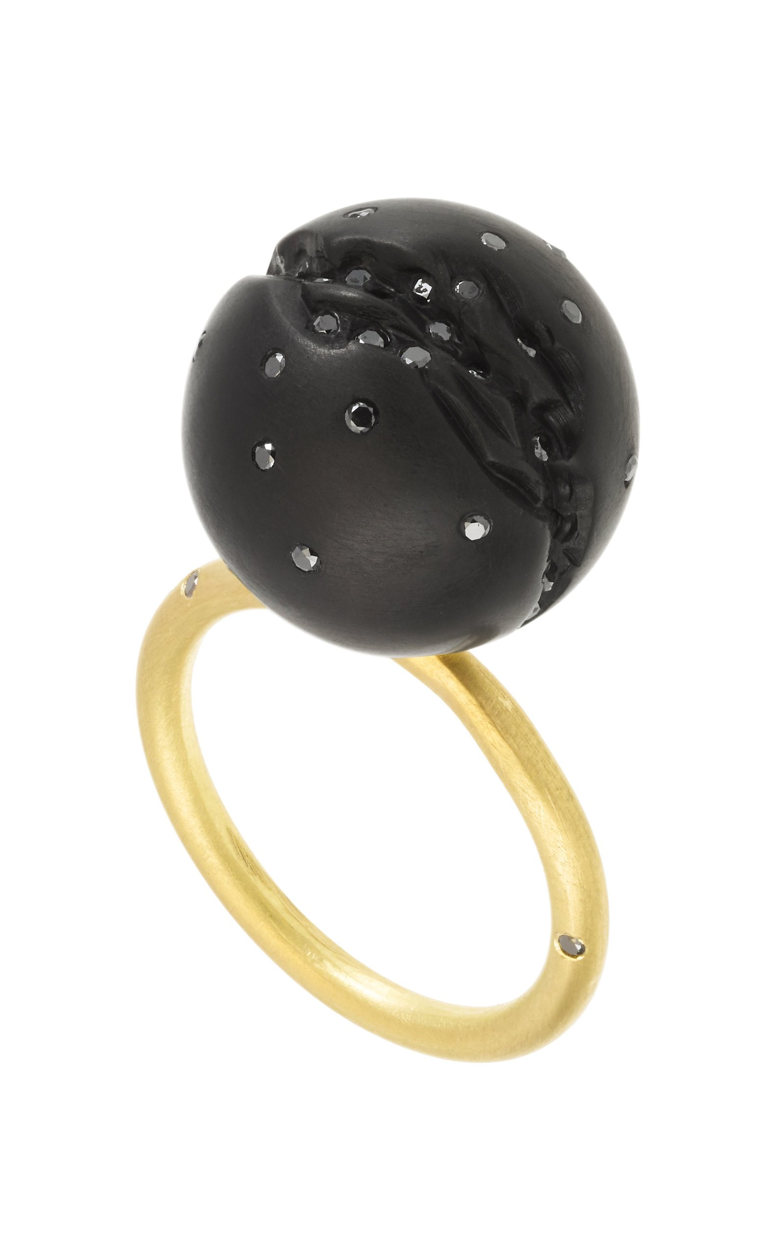 Jacqueline Cullen Large Atomic Sphere Ring