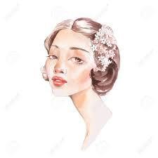 blush floral woman drawings - Google Search