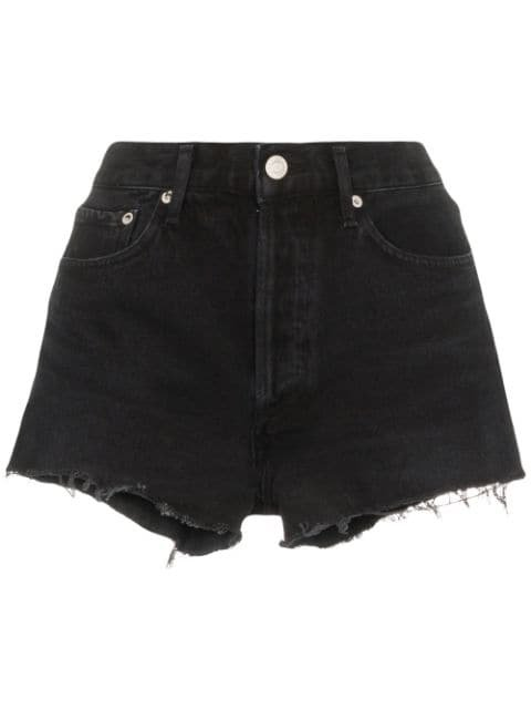 AGOLDE distressed denim shorts £140 - Shop Online - Fast Delivery, Free Returns