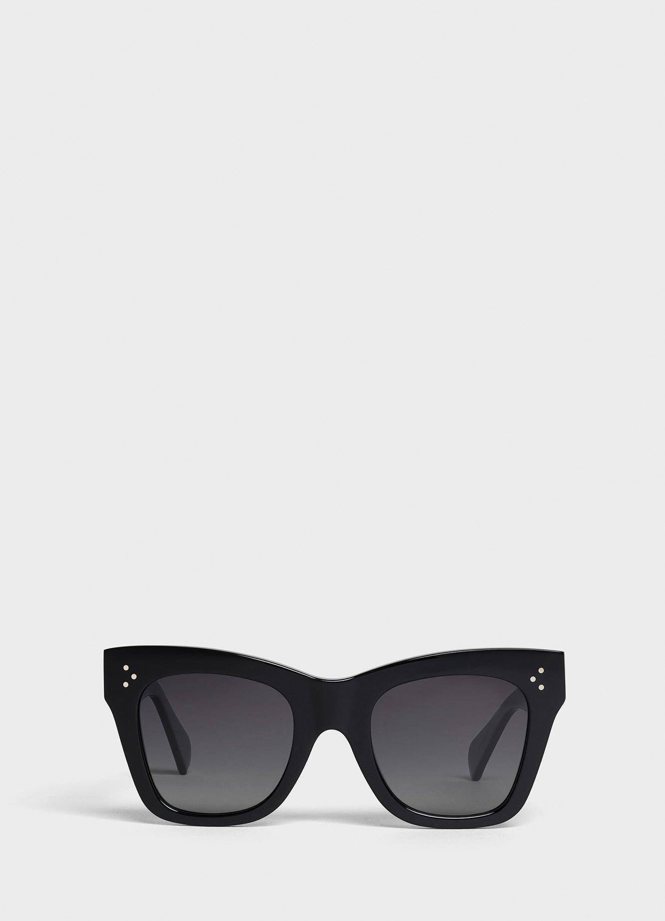 Cat Eye sunglasses in acetate - Black - Official website | CELINE