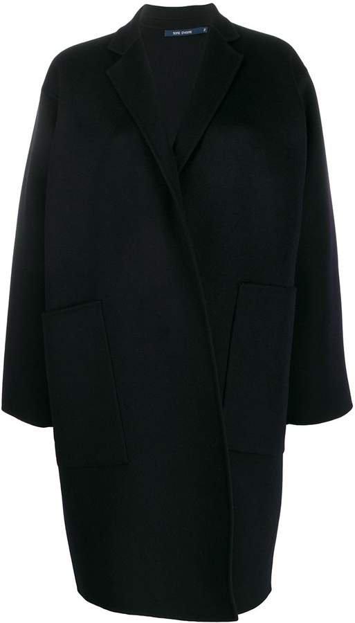 cocoon midi coat