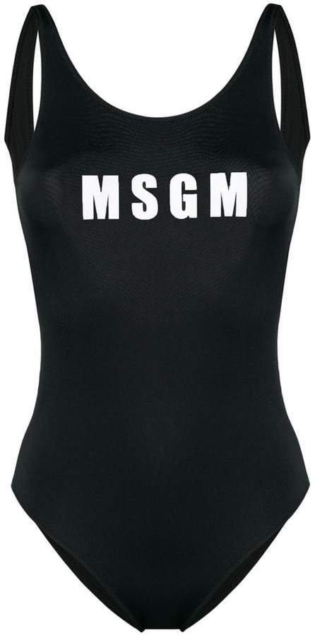 logo print one-piece