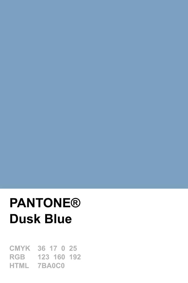 PANTONE Color: Dusk Blue