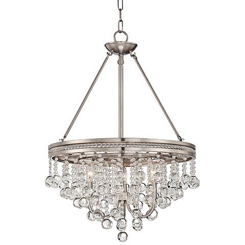 "Regina Brushed Nickel 19"" Chandelier"