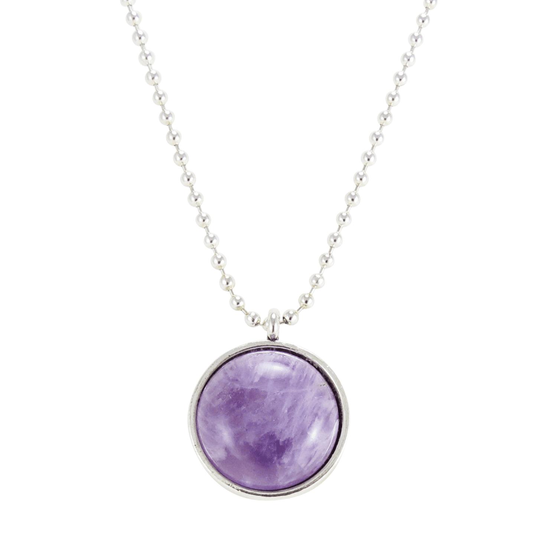 Light Purple Amethyst Gemstone Necklace, Crystal Stone Pendant – CellsDividing