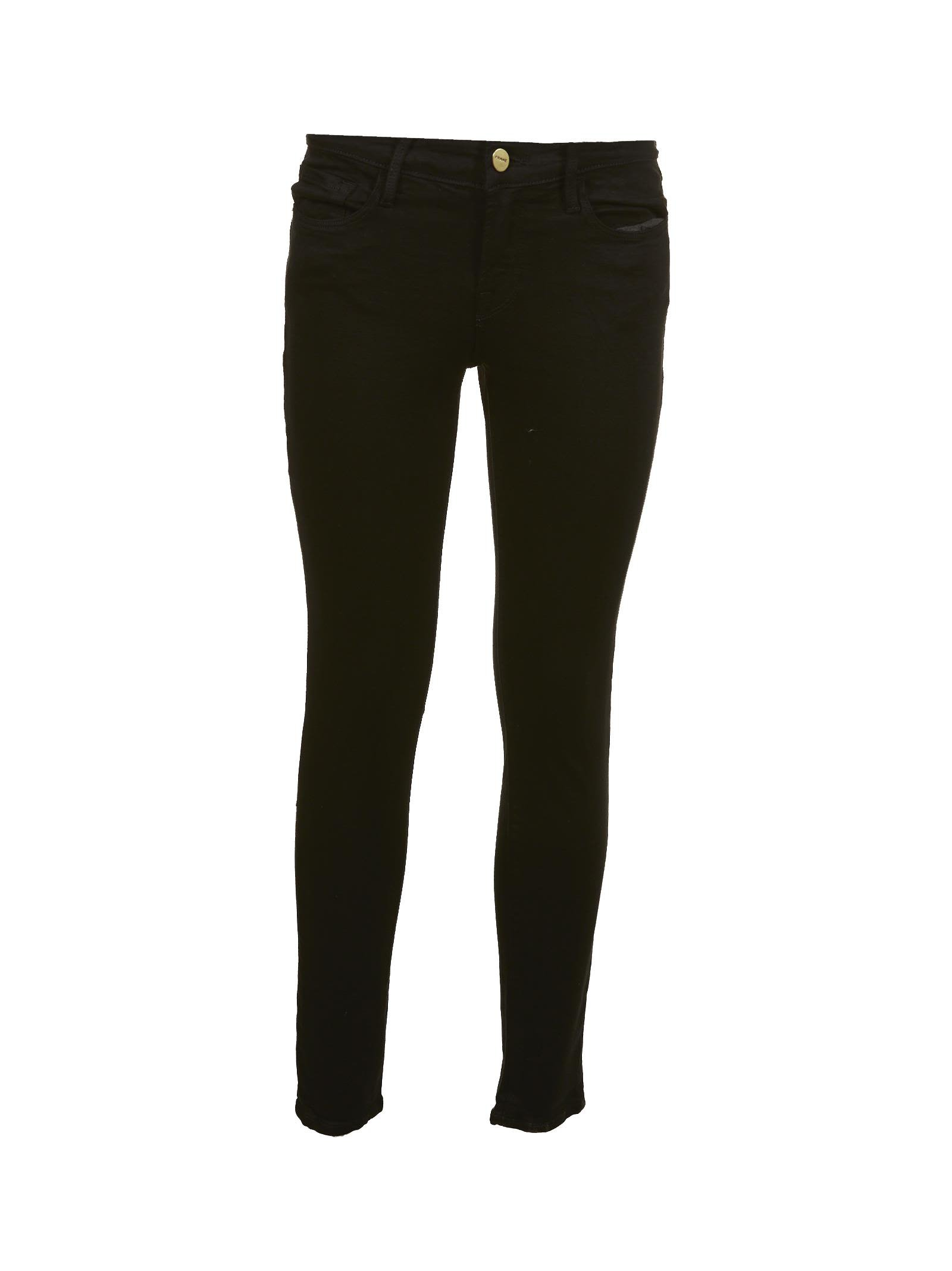 Frame Mid Rise Skinny Jeans
