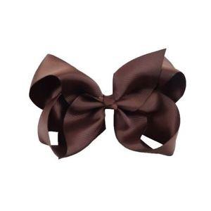 Brown hair bow clip school colour hair accessories | eBay
