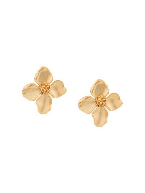 Oscar de la Renta Flower Button earrings