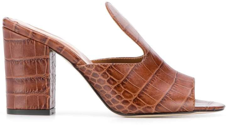 crocodile printed sandals