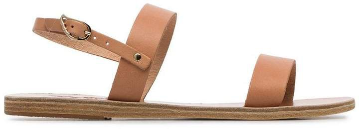 Clio double strap leather sandals