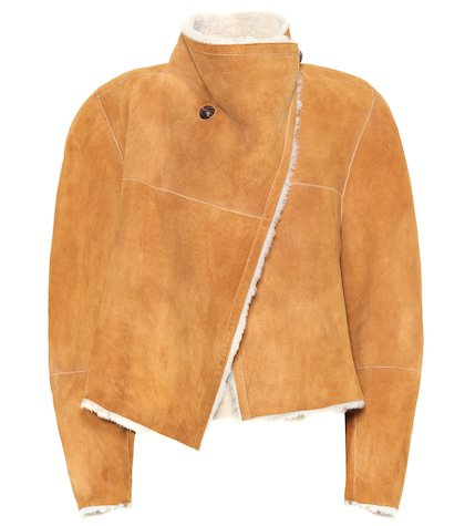 Shearling-lined suede jacket