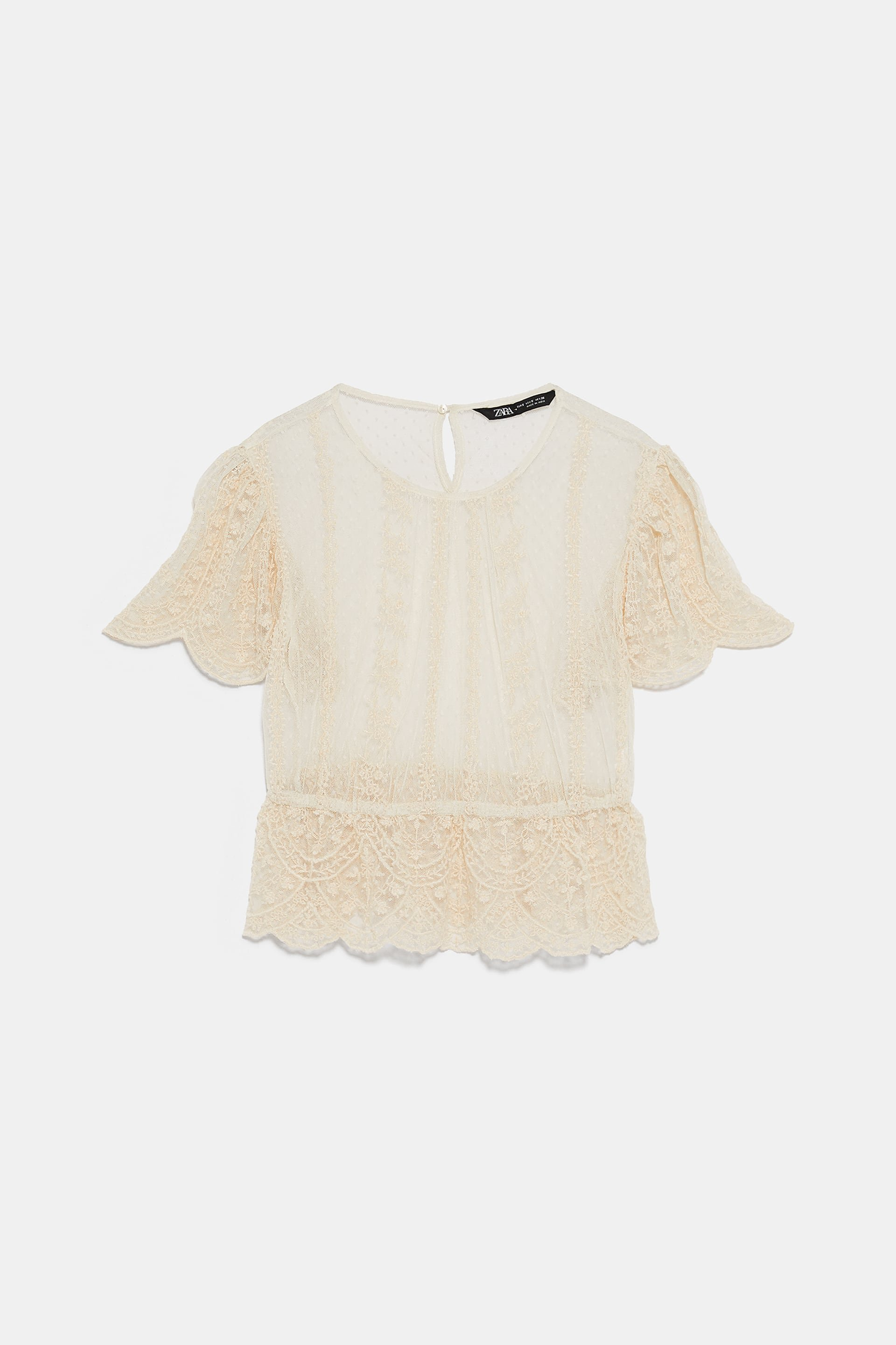 EMBROIDERED TULLE TOP - View All-SHIRTS | BLOUSES-WOMAN | ZARA United States