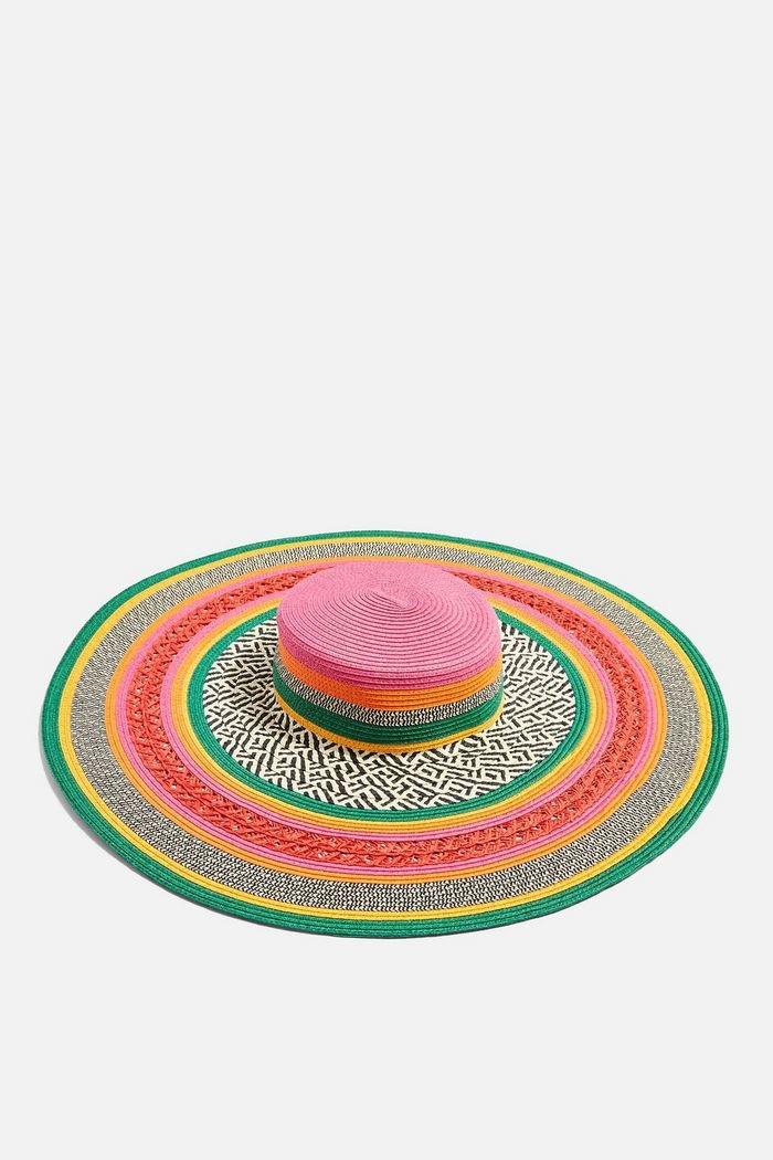 Pattern Oversized Straw Hat | Topshop