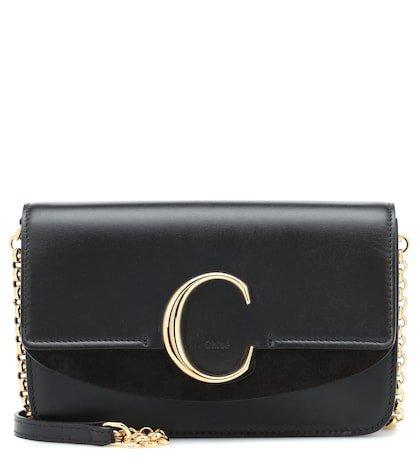 Chloé C leather shoulder bag