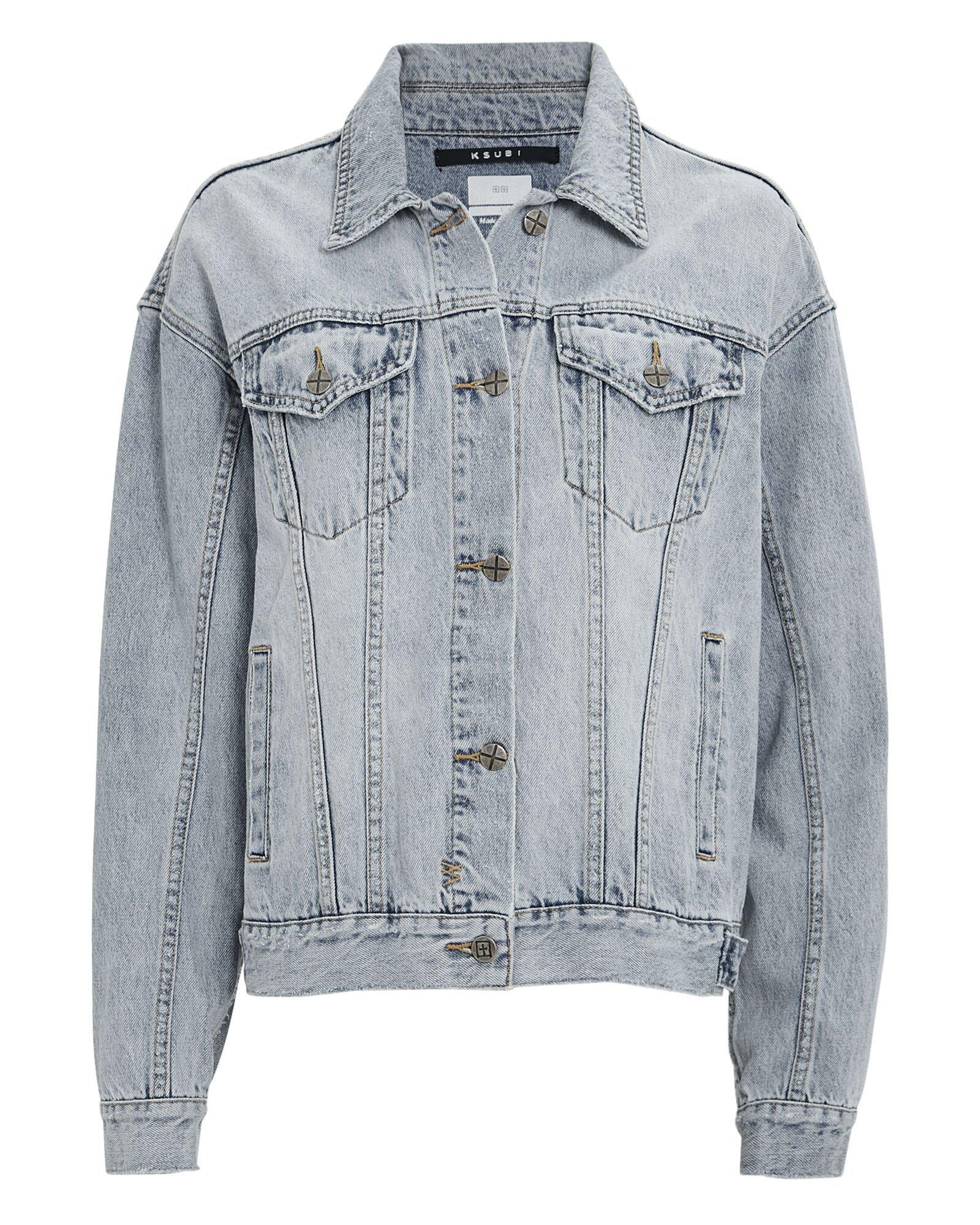 Slash Oversized Denim Jacket | INTERMIX®