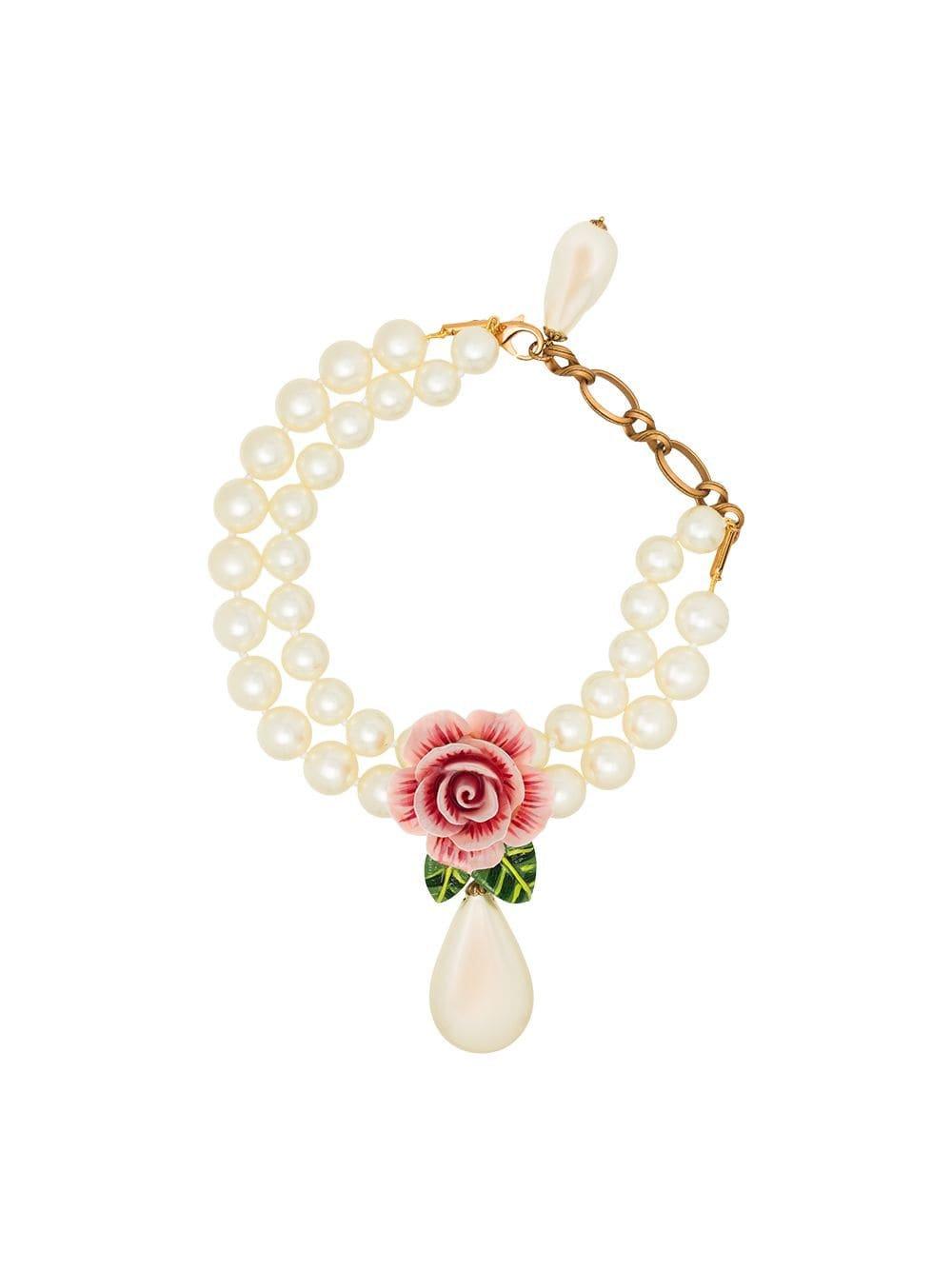 Dolce & Gabbana Rose Drop Necklace
